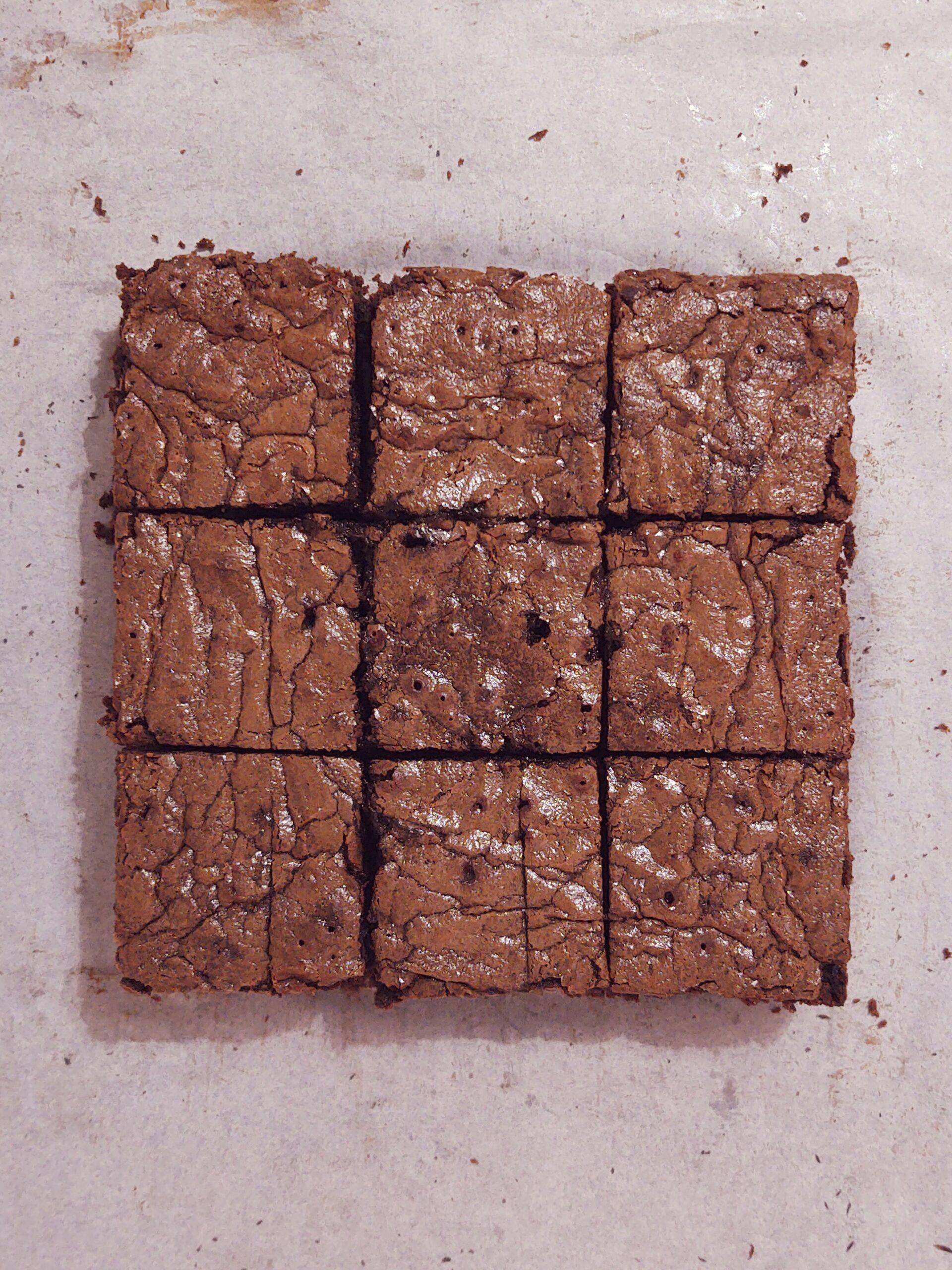 brownie brzoskwiniowe
